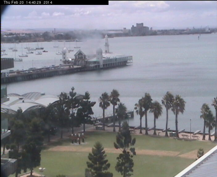 Geelong webcam - Cunningham Pier, Geelong webcam, Victoria, Victoria